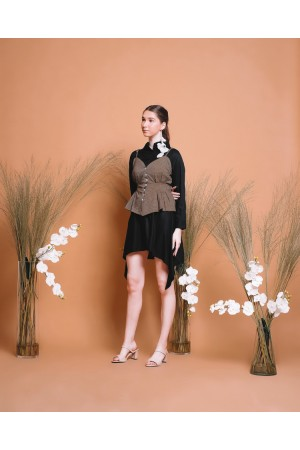 Tobu Shirt Dress + Vichy Bustier Top