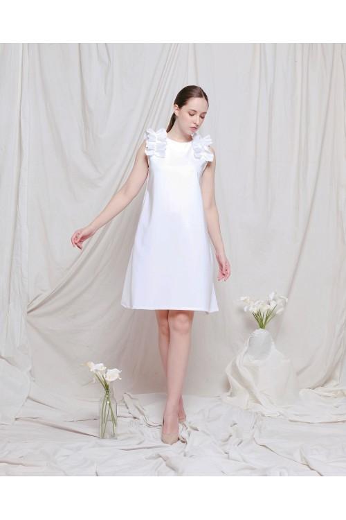 Yuka Ruffle Dress